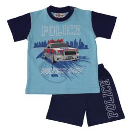 Fun2Wear Politie peuter shortama blauw (92 t/m 128)