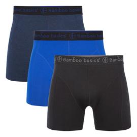 Bamboo Basics boxershort Rico-011 (zwart-navy-blauw, 3-pack)