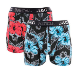 J&C boxershort H244 rosemallow (2-pack)
