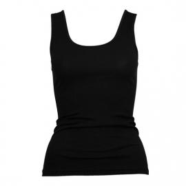 Beeren dames hemd Tactel  (micro) breed bandje zwart