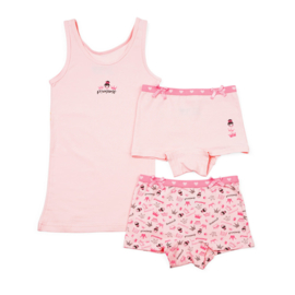 Funderwear meisjes setje princess roze (92/98 t/m 140/146)