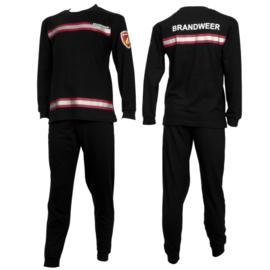 Fun2Wear Brandweer pyjama zwart/rood (140 en 152)