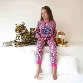 Frogs & Dogs peuter pyjama Wild Girl (92 t/m 140) panter