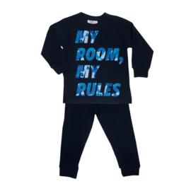 Fun2Wear My room, my rules peuter pyjama blauw (92 t/m 128)