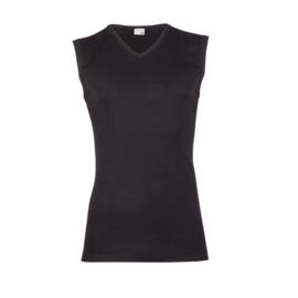 Beeren heren mouwloos V-hals  t-shirt (M3000) zwart