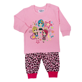 Fun2Wear Amazing Girls peuter pyjama d. roze (92 t/m 128)