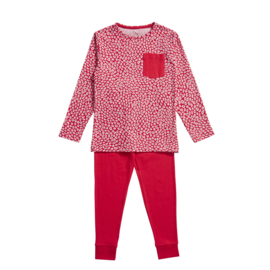 Ten Cate meisjes pyjama red and leopard red (98/104 t/m 134/140)