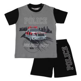 Fun2Wear Politie peuter shortama grijs (92 t/m 128)