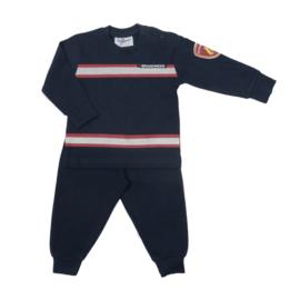 Fun2Wear Brandweer baby pyjama navy/rood (62 t/m 86)