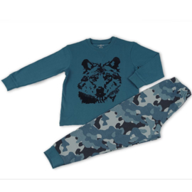 Frogs & Dogs peuter pyjama wolf blauw (104/116/128)