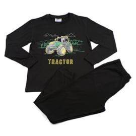 Tractor Fun2Wear pyjama zwart (140/152/164)