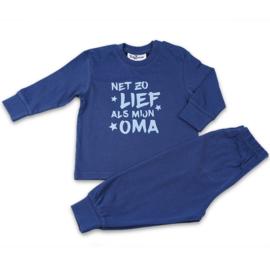 Net zo lief als mijn oma Fun2Wear baby pyjama blauw (62 t/m 86)