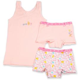 Funderwear meisjes setje small things roze (92/98 t/m 140/146)