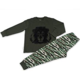 Frogs & Dogs peuter pyjama lion groen (104/116/128)