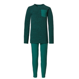 Ten Cate meisjes pyjama emerald and leopard (134/140 t/m 188)