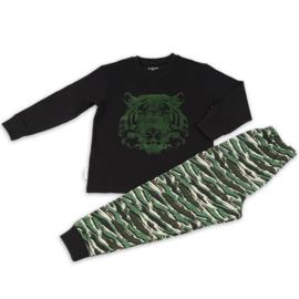 Frogs & Dogs peuter pyjama tijger zwart (104/116/128)