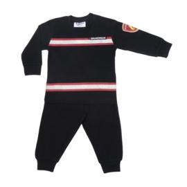 Fun2Wear Brandweer peuter pyjama zwart/rood (92 t/m 128)