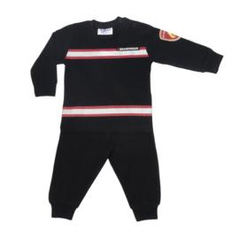 Fun2Wear Brandweer baby pyjama zwart/rood (62 t/m 80)