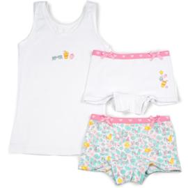 Funderwear meisjes setje small things wit (92/98 t/m 140/146)