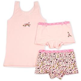 Funderwear meisjes setje sweetie roze (92/98 t/m 140/146)