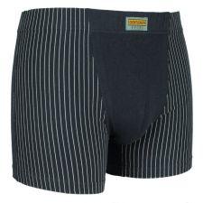 Gentlemen heren boxershort krijtstreep donker grijs