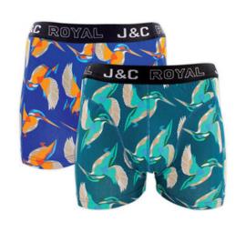 J&C boxershort H243 halcyon (2-pack) S t/m XXL