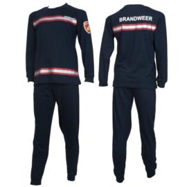 Fun2Wear Brandweer pyjama navy/rood (140 en 152)