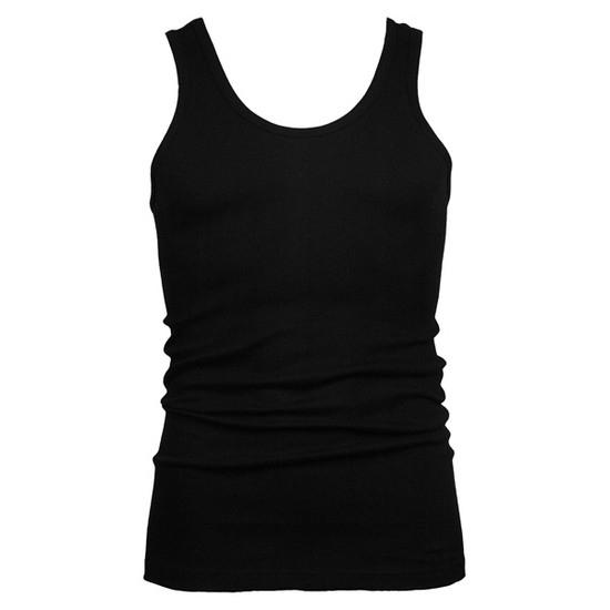 Beeren heren hemd/singlet zwart