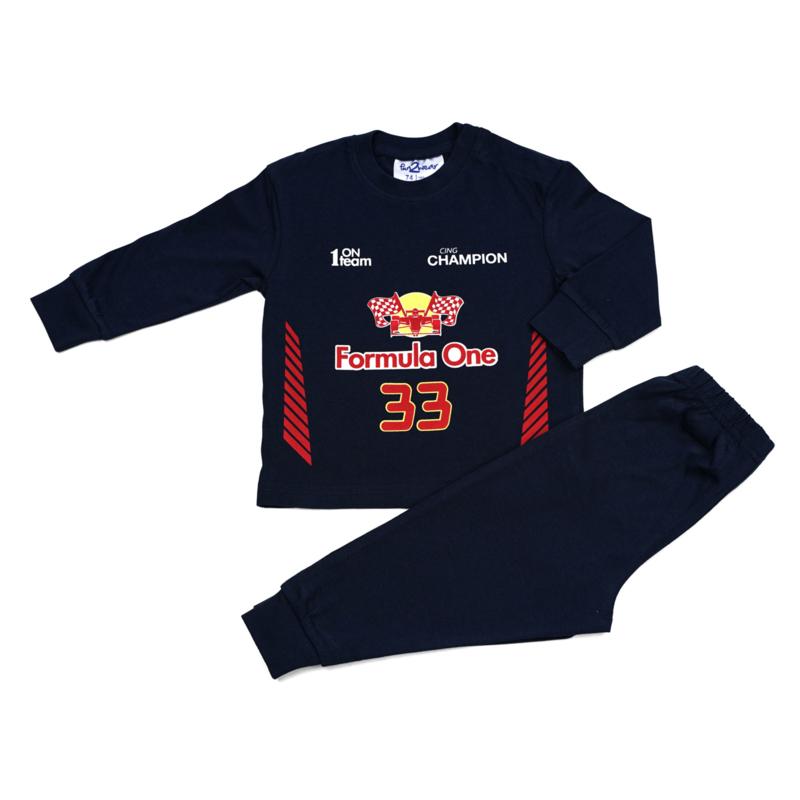 Formule 1 Fun2Wear peuter pyjama blauw (92 t/m 128)