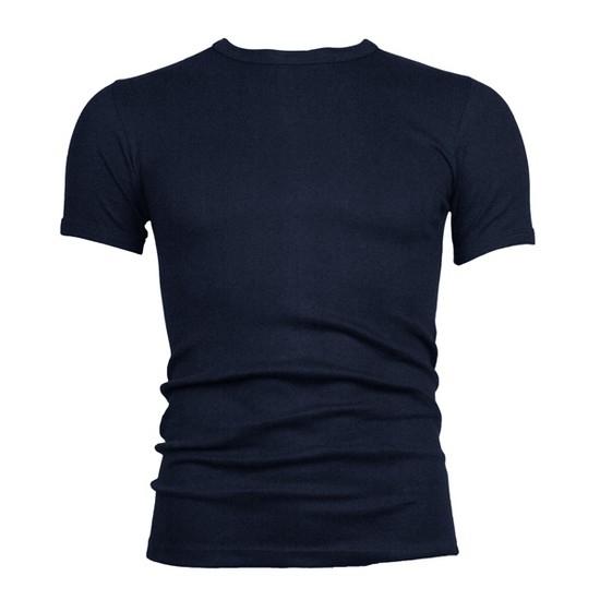 Beeren heren t-shirt (tino) korte mouw donker blauw