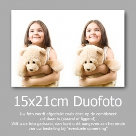 15x21cm Duofoto Foto Afdruk