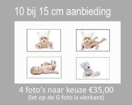4 foto's 10x15cm
