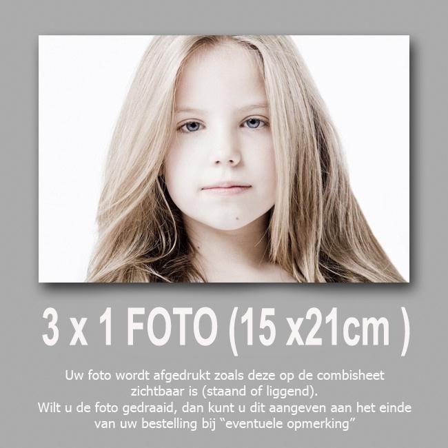 3 foto's 15x 21 cm  halen 2 betalen