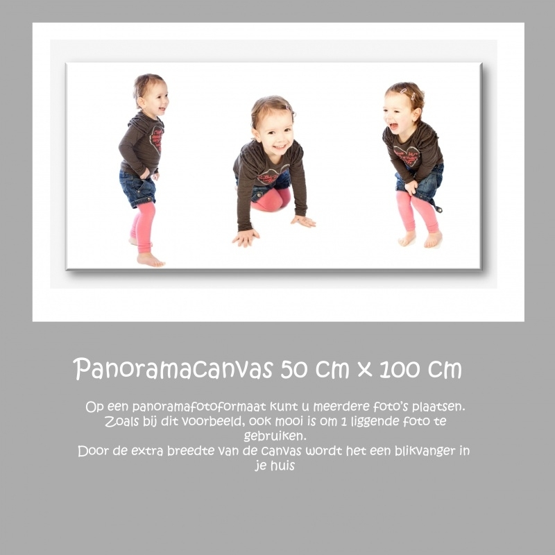 canvas panorama formaat 50x100cm