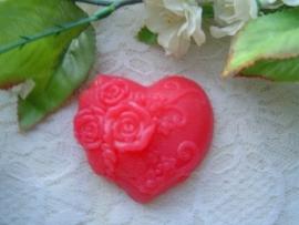 Brocant zeephart met opgelegde roosjes