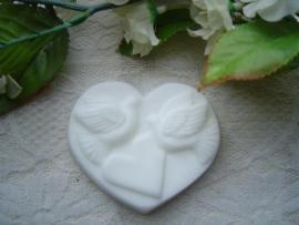 Hart met duifjes