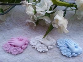 Brocant handje met bloemen
