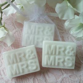 10 st. Mr. & Mrs. in organza zakje