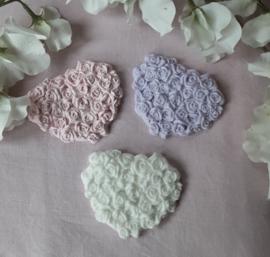 Hart plat met roosjes