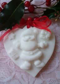 Hart met kerstman