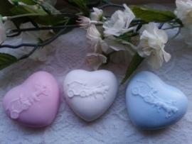 Prachtig dik hart met trouwkoets