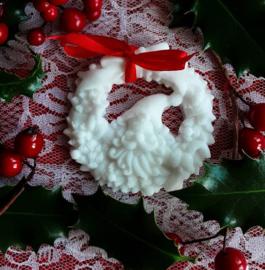 Krans met kerstman