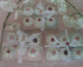 Doosje met 6 cupcakejes