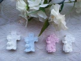 3 st. Kruisjes met meisje of jongen
