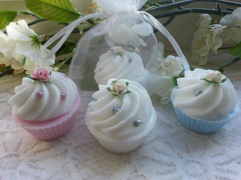 50 stuks Organzazakjes met Mini Cup Cakes