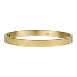 Kalli armband 2123- 6 mm slangenprint - Goud