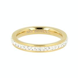 My Bendel - Ring - Zirkonia - Goud