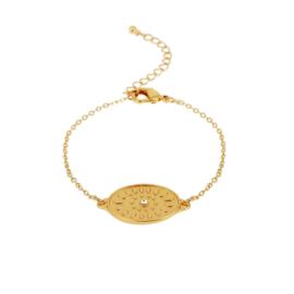 Dansk armband - Daisy Oval Gold - 7C5330