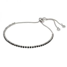 Kalli armband 2584 - Zwart/Zilver