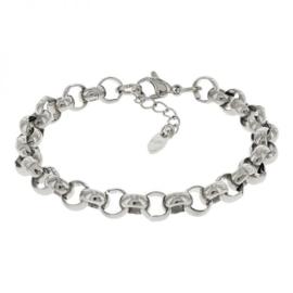 Kalli schakelarmband 2522 - Zilver